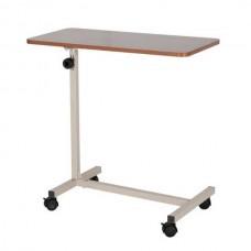Τραπέζι τροχήλατο ρυθμιζόμενου ύψους για νοσοκομειακό κρεβάτι